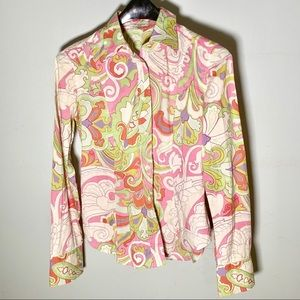 Etro paisley pink button down shirt  6/8